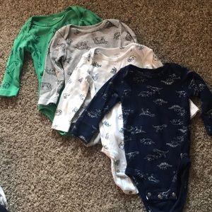 Carters Long Sleeve Onesies- 9 Monthd